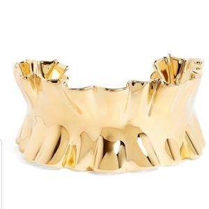 Kate Spade Ruffle Gold Cuff Statement Bracelet